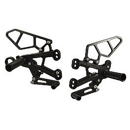 Woodcraft Complete Rearset Kit - 2011 BMW S1000RR Woodcraft 3-Piece Shift Pedal