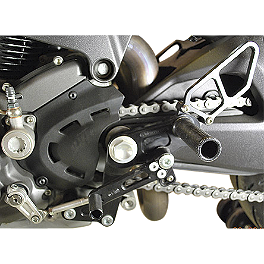 Woodcraft Complete Rearset Kit - 2010 Ducati Monster 1100 Woodcraft 3-Piece Brake Pedal