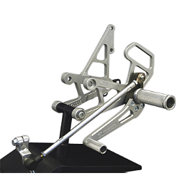 Woodcraft Complete Rearset Kit - Woodcraft Rearset Kit With Shift Pedal