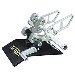 Woodcraft Rearset Kit - 2008 Ducati 848 Woodcraft 3-Piece Brake Pedal