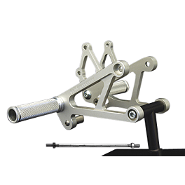 Woodcraft Rearset Kit - 1999 Honda CBR600F4 Woodcraft Stainless Steel Shift Rod