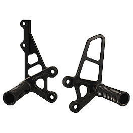 Woodcraft Rearset Kit - 2003 Suzuki SV650 Woodcraft 3-Piece Brake Pedal