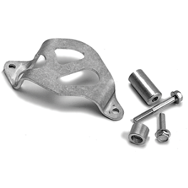Works Connection Rear Brake Caliper Guard - 2006 Honda CR250 Moose Pro Shark Fin With Brake Carrier