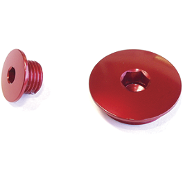 Works Connection Engine Timing Plugs - 2010 Kawasaki KX250F Yoshimura Oil Filler Plug - Red