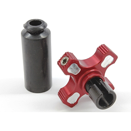 Works Connection Elite Perch Thumbwheel Assembly - 2007 Suzuki RMZ250 Works Connection Front Brake Reservoir Cap - Red