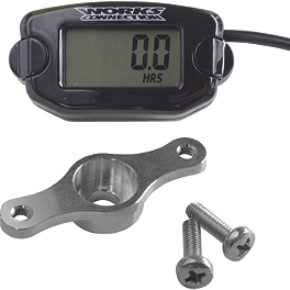 Works Connection Hour-Tach Meter & Mount Kit - Works Connection Tach/Hour Meter Bracket With Spacer