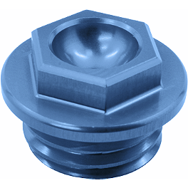 Works Connection Oil Filler Plug - Blue - 1997 Kawasaki KX500 TM Designworks Magnetic Drain Plug