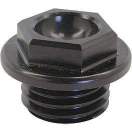 Works Connection Oil Filler Plug - Black - 1996 Kawasaki KX80 BikeMaster Steel Magnetic Oil Drain Plug