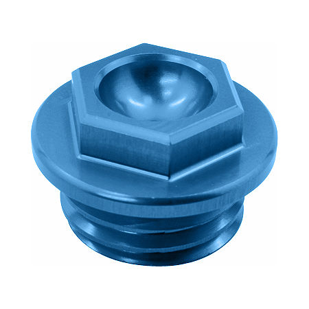 Works Connection Oil Filler Plug - Blue - Main