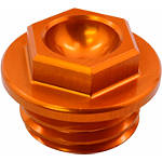 Works Connection Oil Filler Plug - Orange - Dirt Bike Oil Filler and Drain Plugs