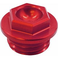 Works Connection Oil Filler Plug - Red