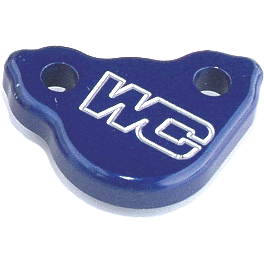 Works Connection Rear Brake Reservoir Cap - Blue - 2002 Honda CR250 Works Connection Rear Brake Caliper Guard
