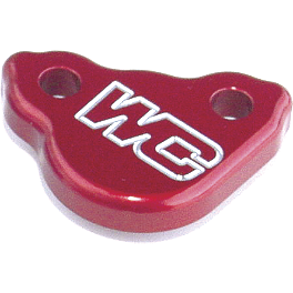 Works Connection Rear Brake Reservoir Cap - Red - Works Connection Front Brake Cover - Red