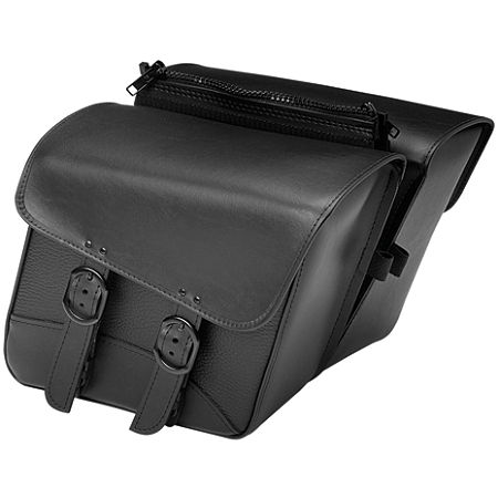 Willie & Max Black Jack Slant Saddlebags - Compact - Main