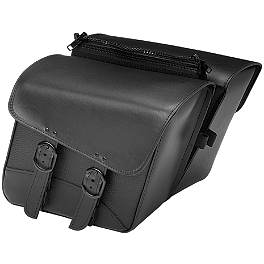 Willie & Max Black Jack Slant Saddlebags - Compact - Willie & Max Revolution Throwover Saddlebag - Belted