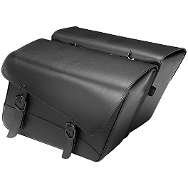 Willie & Max Black Jack Slant Saddlebags - Large - Willie & Max Raptor Sissy Bar Bag