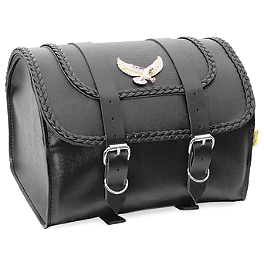 Willie & Max Black Magic Max Pax Tour Trunk - Willie & Max Gray Thunder Studded Sissy Bar Bag