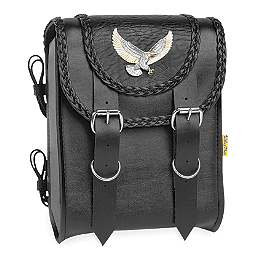 Willie & Max Black Magic Sissy Bar Bag - Willie & Max Eagle Tool Pouch