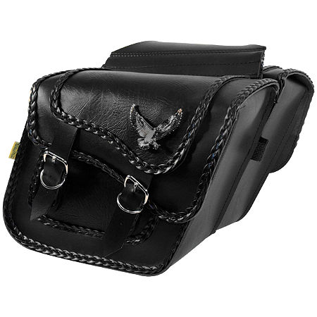 Willie & Max Black Magic Slant Saddlebags - Compact - Main