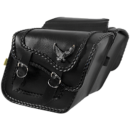 Willie & Max Black Magic Slant Saddlebags - Compact - Willie & Max Synthetic Leather Revolution Hard Mount Belted Saddlebag