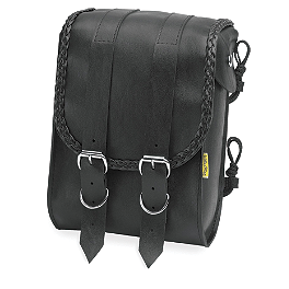 Willie & Max Braided Sissy Bar Bag - Willie & Max Braided Tool Pouch
