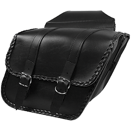Willie & Max Braided Slant Saddlebags - Compact - Willie & Max Maltese Cross Saddlebag