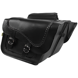 Willie & Max Braided Slant Saddlebags - Fleetside - Willie & Max Black Magic Slant Saddlebags - Super
