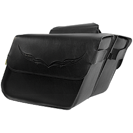 Willie & Max Condor Slant Saddlebags - Large - Willie & Max Revolution Throwover Saddlebag - Plain