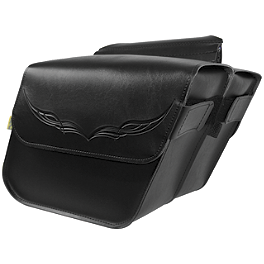 Willie & Max Condor Slant Saddlebags - Compact - Willie & Max Revolution Throwover Saddlebag - Belted
