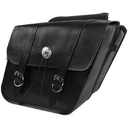 Willie & Max Deluxe Slant Saddlebags - Regular - Willie & Max Synthetic Leather Revolution Hard Mount Retro Saddlebag