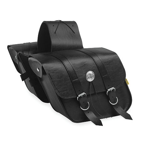Willie & Max Deluxe Slant Saddlebags - Compact - Main