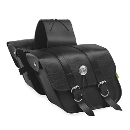Willie & Max Deluxe Slant Saddlebags - Compact - Willie & Max Synthetic Leather Revolution Hard Mount Grommet Saddlebag