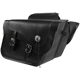 Willie & Max Deluxe Slant Saddlebags - Fleetside - Willie & Max Synthetic Leather Revolution Hard Mount Belted Saddlebag