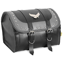 Willie & Max Gray Thunder Studded Max Pax Tour Trunk - Willie & Max Deluxe Slant Saddlebags - Compact