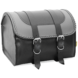 Willie & Max Gray Thunder Braided Max Pax Tour Trunk - Willie & Max Standard Saddlebags