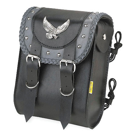Willie & Max Gray Thunder Studded Sissy Bar Bag - Main