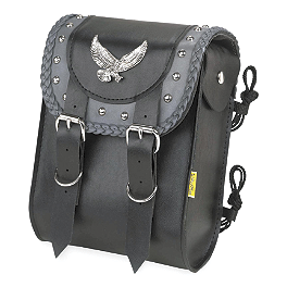 Willie & Max Gray Thunder Studded Sissy Bar Bag - Willie & Max Synthetic Leather Revolution Hard Mount Grommet Saddlebag