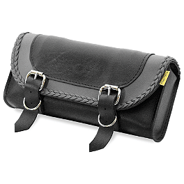 Willie & Max Gray Thunder Studded Tool Pouch - Willie & Max Revolution Throwover Standard Saddlebag