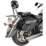 Willie & Max Synthetic Leather Revolution Hard Mount Belted Saddlebag - Willie & Max Cruiser Products