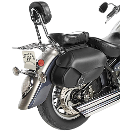 Willie & Max Synthetic Leather Revolution Hard Mount Plain Saddlebag - Willie & Max Braided Sissy Bar Bag