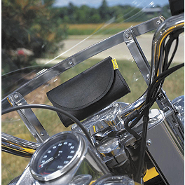 Willie & Max Handlebar/Windshield Pouch - Willie & Max Revolution Throwover Saddlebag - Swooped