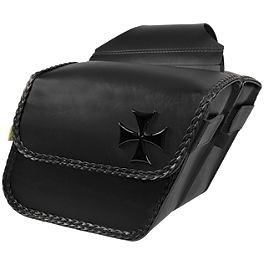 Willie & Max Maltese Cross Saddlebag - Willie & Max Black Jack Slant Saddlebags - Large