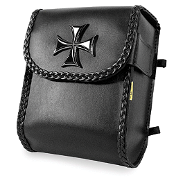Willie & Max Maltese Cross SIssy Bar Bag - Willie & Max Black Magic Slant Saddlebags - Super