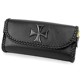 Willie & Max Maltese Cross Tool Pouch - Willie & Max Gray Thunder Studded Sissy Bar Bag