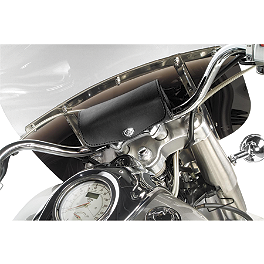 Willie & Max Revolution Handlebar Bag - Willie & Max Gray Thunder Studded Sissy Bar Bag
