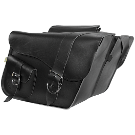 Willie & Max Ranger Standard Slant Saddlebags - Willie & Max Black Jack Slant Saddlebags - Compact