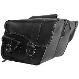 Willie & Max Ranger Braided Slant Saddlebags - Willie & Max Gray Thunder Braided Slant Saddlebags - Fleetside