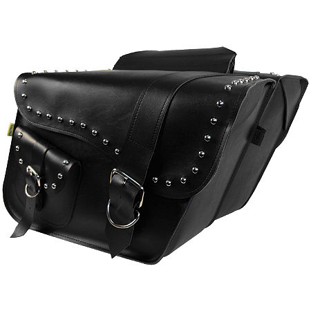 Willie & Max Ranger Studded Slant Saddlebags - Main