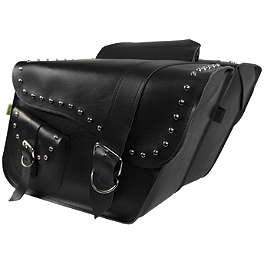 Willie & Max Ranger Studded Slant Saddlebags - Willie & Max Black Magic Slant Saddlebags - Compact