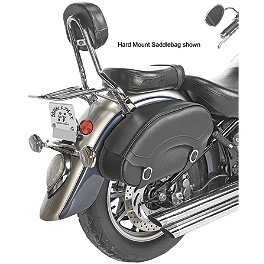 Willie & Max Revolution Throwover Standard Saddlebag - Willie & Max Synthetic Leather Revolution Hard Mount Belted Saddlebag